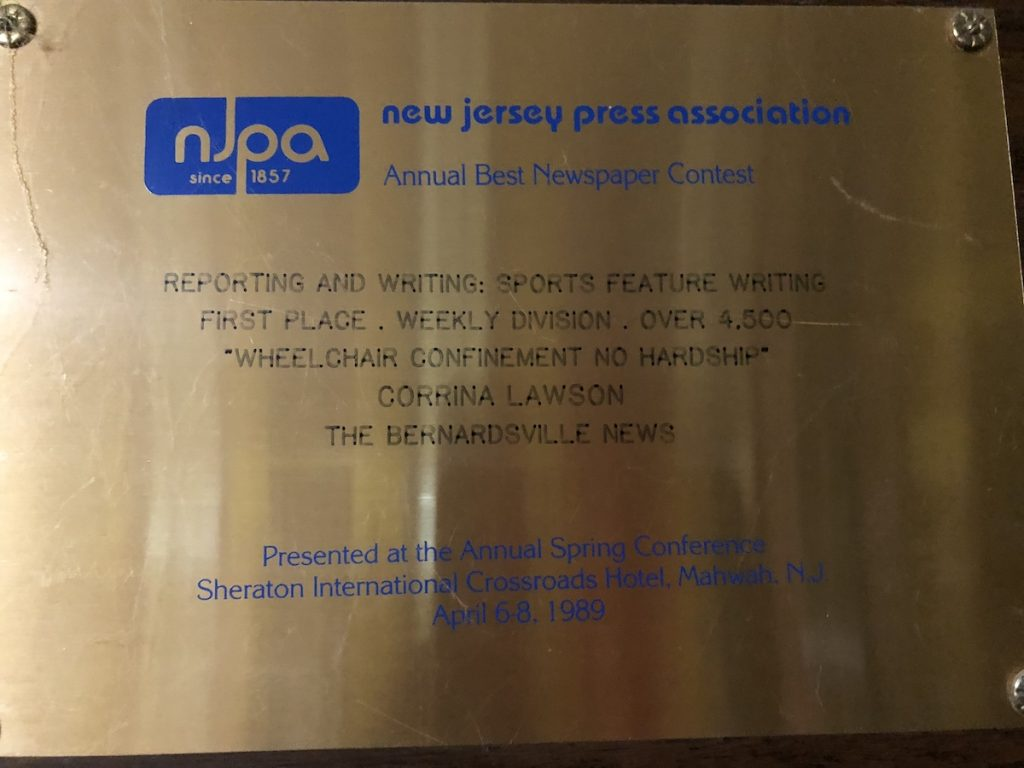New Jersey Press Association Award