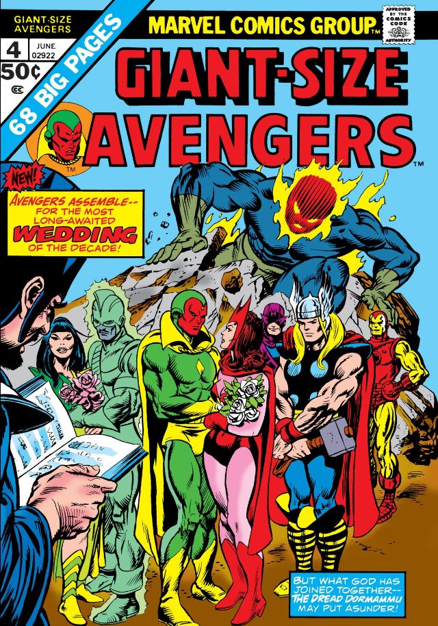 Giant Avengers #4 Vision and Scarlet Witch wedding, a temporary happy ending for this superhero romance